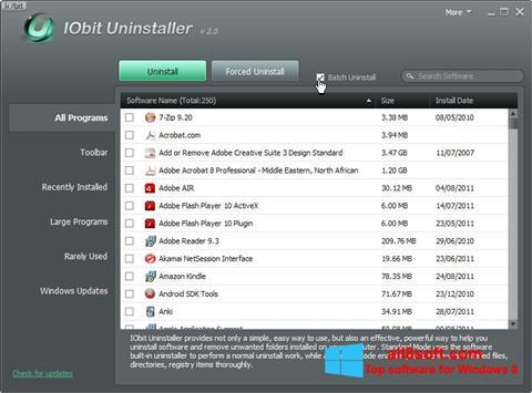 Képernyőkép IObit Uninstaller Windows 8