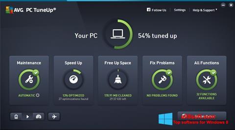 Képernyőkép AVG PC Tuneup Windows 8