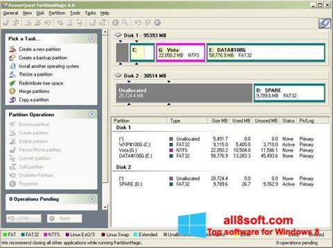 Képernyőkép Partition Magic Windows 8