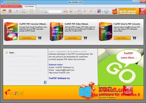 Képernyőkép Doc Reader Windows 8