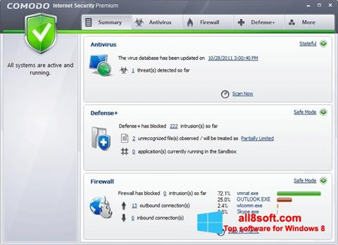 Képernyőkép Comodo Internet Security Windows 8