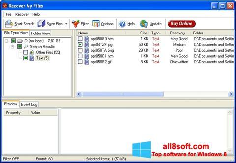 Képernyőkép Recover My Files Windows 8
