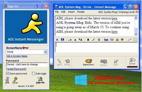 Képernyőkép AOL Instant Messenger Windows 8