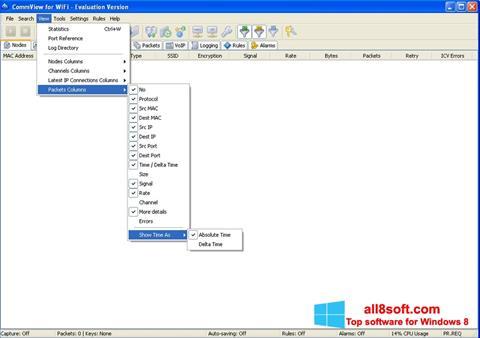 Képernyőkép CommView for WiFi Windows 8