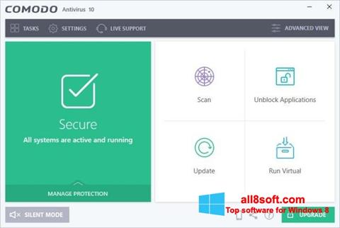 Képernyőkép Comodo Antivirus Windows 8