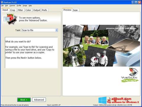 Képernyőkép VueScan Windows 8
