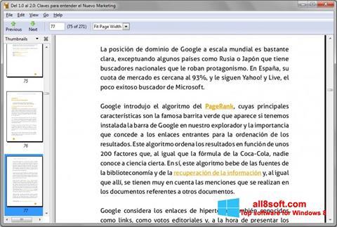 Képernyőkép Evince Windows 8
