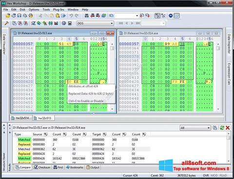 Képernyőkép Hex Workshop Windows 8