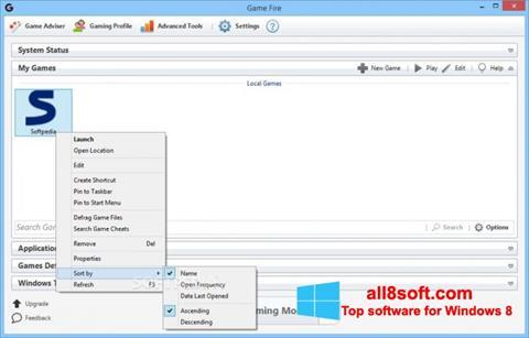 Képernyőkép Game Fire Windows 8