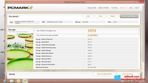 Képernyőkép PCMark Windows 8