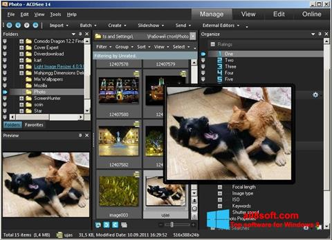 Képernyőkép ACDSee Photo Manager Windows 8