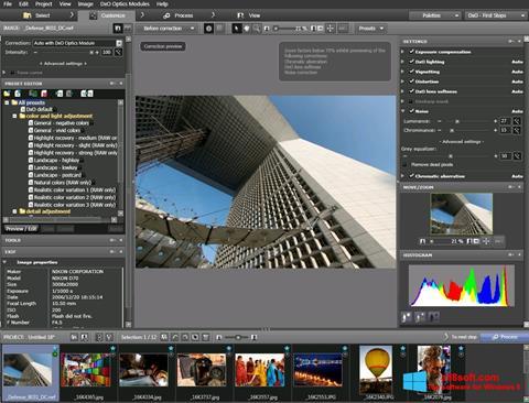 Képernyőkép DxO Optics Pro Windows 8