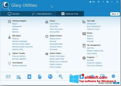 Képernyőkép Glary Utilities Pro Windows 8