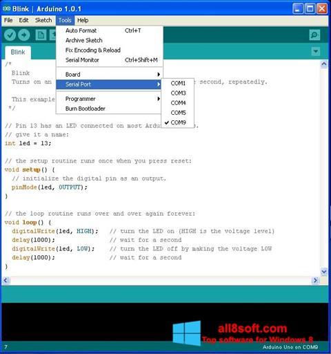 Képernyőkép Arduino Windows 8