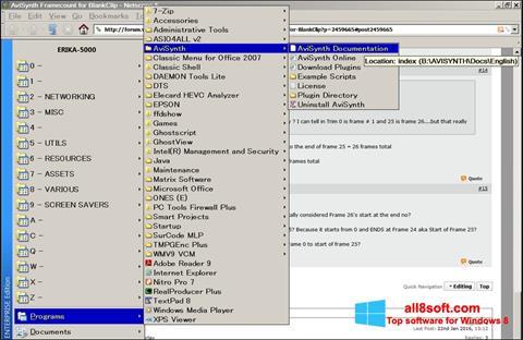 Képernyőkép AviSynth Windows 8