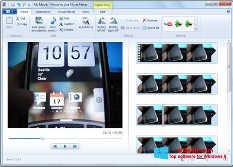 Képernyőkép Windows Live Movie Maker Windows 8