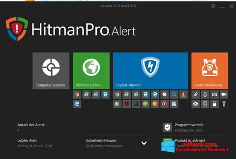Képernyőkép HitmanPro Windows 8