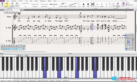 Képernyőkép Sibelius Windows 8