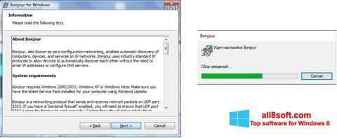 Képernyőkép Bonjour Windows 8
