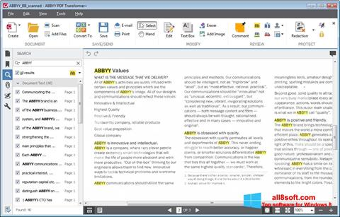 Képernyőkép ABBYY PDF Transformer Windows 8