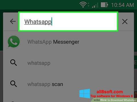 Képernyőkép WhatsApp Windows 8