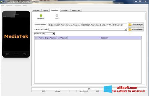 Képernyőkép FlashTool Windows 8