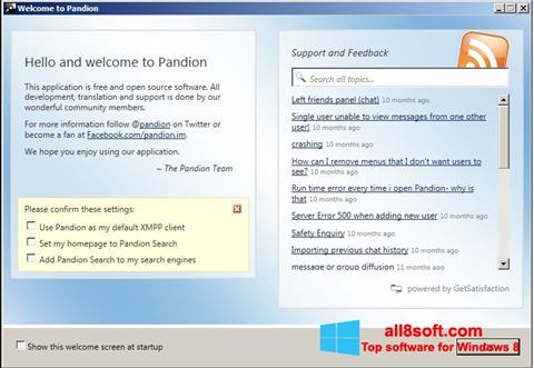 Képernyőkép Pandion Windows 8