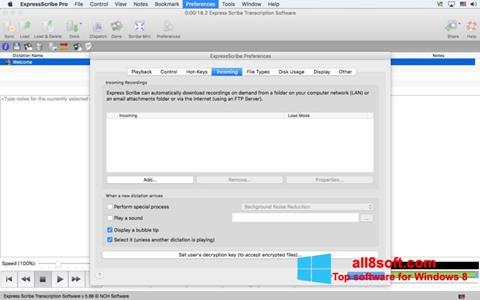 Képernyőkép Express Scribe Windows 8