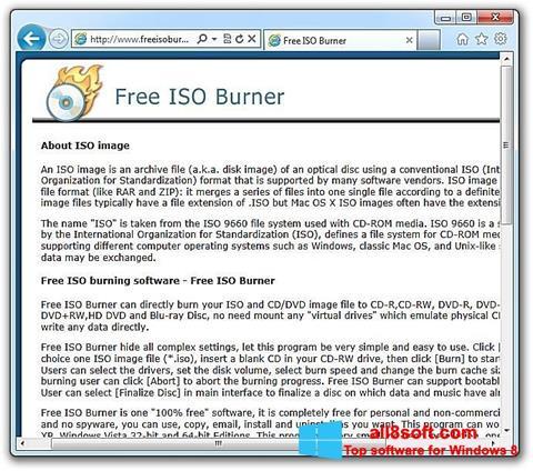 Képernyőkép ISO Burner Windows 8