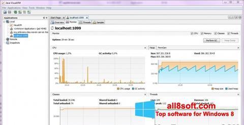 Képernyőkép Java Virtual Machine Windows 8