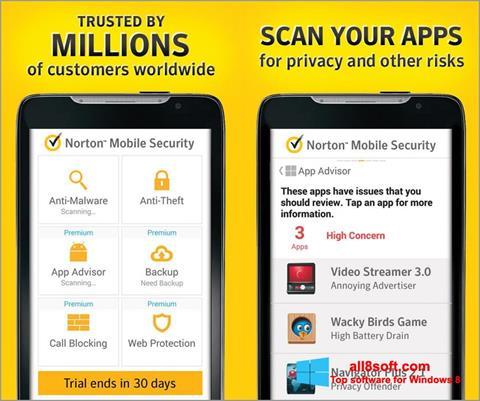 Képernyőkép Norton Mobile Security Windows 8