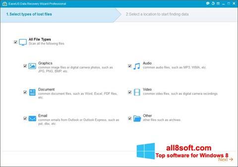 Képernyőkép EaseUS Data Recovery Wizard Windows 8