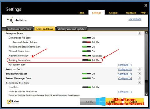 Képernyőkép Norton Windows 8