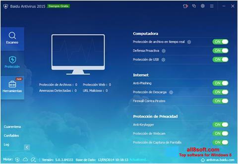 Képernyőkép Baidu Antivirus Windows 8