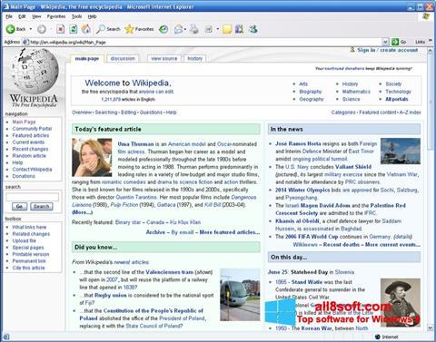 Képernyőkép Internet Explorer Windows 8