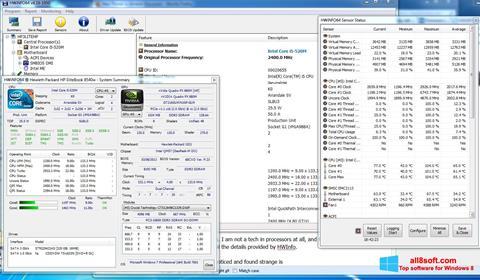 Képernyőkép HWiNFO Windows 8