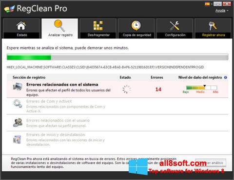 Képernyőkép RegClean Pro Windows 8