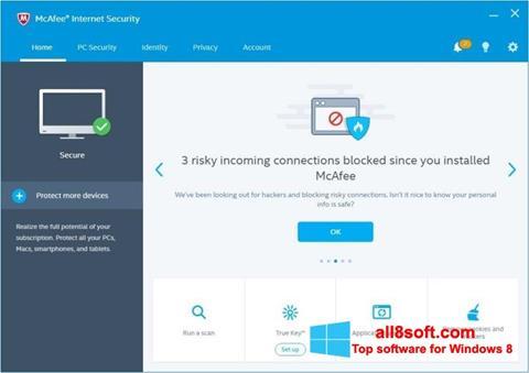 Képernyőkép McAfee Windows 8