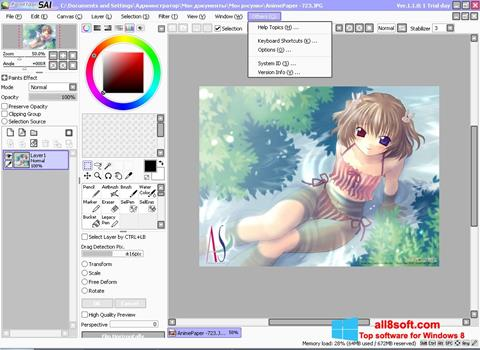 Képernyőkép Paint Tool SAI Windows 8