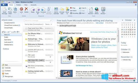 Képernyőkép Windows Live Mail Windows 8