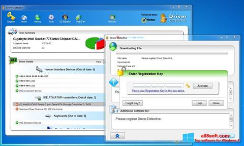 Képernyőkép Driver Detective Windows 8