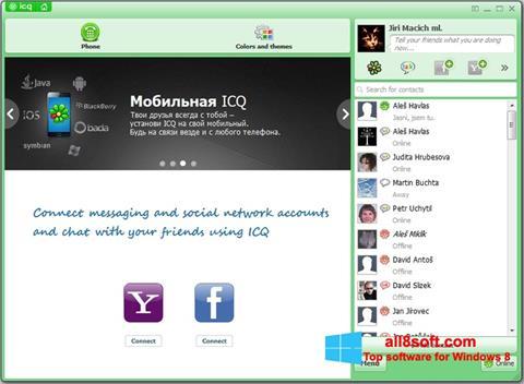 Képernyőkép ICQ Windows 8