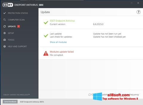 Képernyőkép ESET Endpoint Antivirus Windows 8