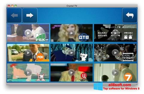 Képernyőkép Crystal TV Windows 8