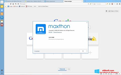 Képernyőkép Maxthon Windows 8