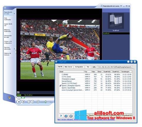 Képernyőkép SopCast Windows 8