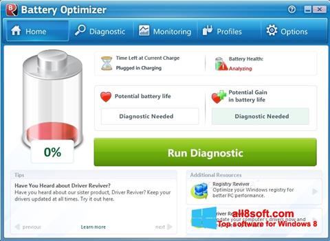 Képernyőkép Battery Optimizer Windows 8