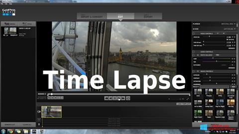 Képernyőkép GoPro Studio Windows 8