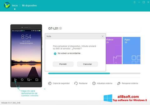 Képernyőkép Huawei HiSuite Windows 8