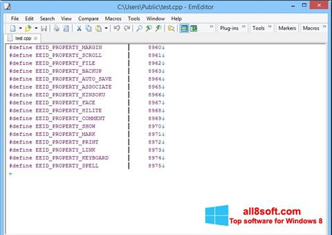 Képernyőkép EmEditor Windows 8